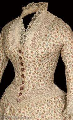 1880's day dress, bodice detail