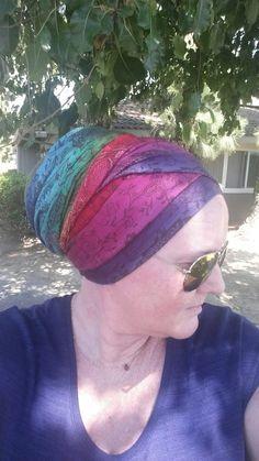 Rainbow headwrap turban rainbow