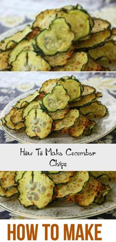 Cucumber Chips are easy to make and are delicious and healthy at the same time. They are the perfect snack for kids and adults. Cucumber Chips are easy to make and are delicious and healthy at the same time. They are the perfect snack for kids and adults. Healthy Snacks Before Bed, Healthy Low Carb Snacks, Healthy Chips, Cucumber Chips, Veggie Chips, Chips Food, Snacks Under 100 Calories, Yummy Veggie