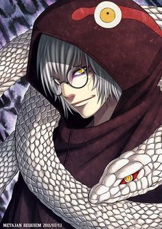 I think kabuto is so HOT with this look his eyes god he looks sexy with that face <3 <3