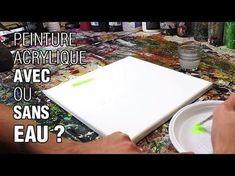 PEINDRE A L'ACRYLIQUE UN PAYSAGE AVEC REFLETS SUR L'EAU, SIMPLE ET AGRÉABLE! - YouTube