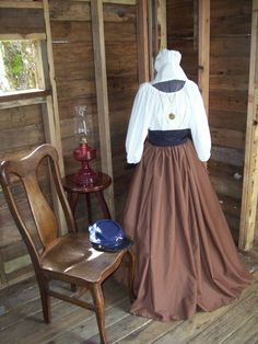 Civil War Colonial Prairie Pioneer Dress