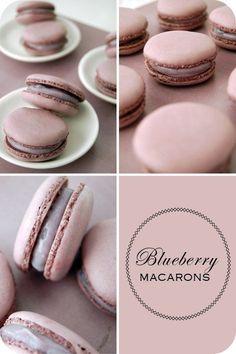 Blueberry macarons