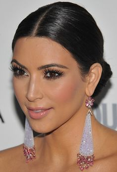 kim kardashian-slicked back hair