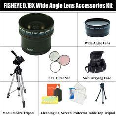 0.18X SUPER FISHEYE WIDE ANGLE LENS Accessories Kit !!! $82.99