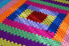 Crochet colorful blanket ♥LCA-MRS♥ with diagram.