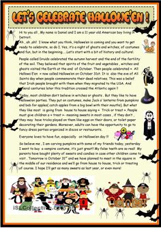 Lets celebrate Halloween : 2 page reading