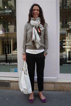 ストリートファッションスナップ パリ フ