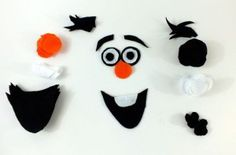 Cutting out the pieces for Olaf's face