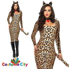 Adults womens sexy cougar #jungle cat animal #fancy dress halloween #party costum,  View more on the LINK: http://www.zeppy.io/product/gb/2/272012079615/
