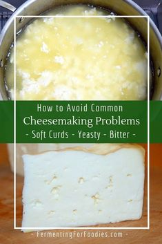 Learn about common cheesemaking problems and how to solve them. Solutions for problems with setting curd or aging cheese. Cheese And Wine Tasting, Wine And Cheese Party, Wine Cheese, Goat Cheese, Milk Recipes, Cheese Recipes, Cooking Recipes, Chutney, Fromage Vegan