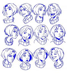 20 Cartoon Character Facial Expression Drawings - Beautiful Dawn Designs