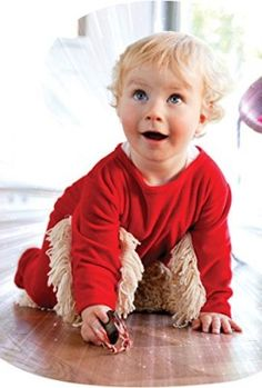 Baby Mop Onesie - Chasing your baby around the house can be exhausting, but this clever onesie makes up for it by doing your chores for you! Creative Gifts, Unique Gifts, Onesies, Kids Rugs, Baby, Clever, Group, Products, Hacks