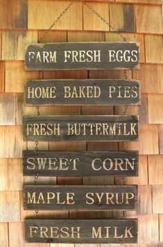 Country Farm Stand Sign Bring the farmhouse goods home, it's growing season down on the farm. The crops are coming in by the bushel baskets. We have freshly pick sweet corn, fresh eggs, and maple syrup. Daddy and the boys ta Country Farmhouse Decor, Country Primitive, Farmhouse Design, Farmhouse Style, Country Kitchen, Western Kitchen, Primitive Decor, Primitive Signs, Rustic Design
