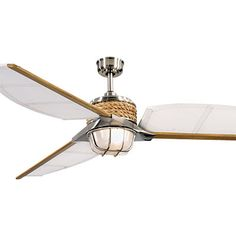 This sailor-chic fan has canvas blades and a cool rope detail. $259