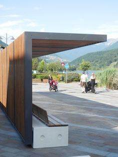 Trentino, Italy. Bellitalia very elegant street furniture solutions