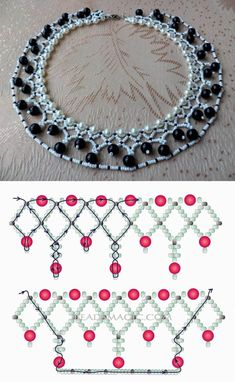 Jewelry Making Beads Free pattern for beaded necklace Norma seed beads pearl beads pearl beads 8 mm - Free pattern for beaded necklace Norma U need: seed beads pearl beads Beaded Necklace Patterns, Bracelet Patterns, Beading Patterns, Beaded Bracelets, Handmade Bracelets, Embroidery Bracelets, Handmade Wire, Seed Bead Jewelry, Bead Jewellery