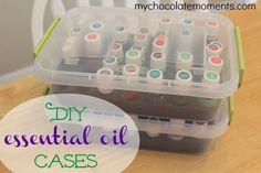 An easy DIY solution for storing and transporting your essential oils plus how I store the oils that I carry with me all the time.