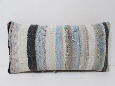 kilim lumbar pillow white decorative pillow by DECOLICKILIMPILLOWS