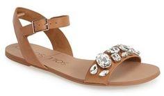 Sole Society 'Gemma' Crystal Ankle Strap Sandal (Women)