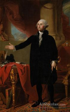 Gilbert Stuart,George Washington (the Landsdowne Portrait) oil painting reproductions for sale