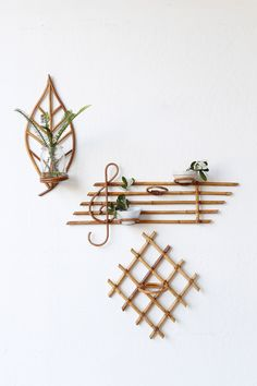 Rattan Wall Plant Holders / Super Marché