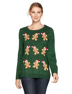 Notations Women's Ugly Gingerbread Man Christmas Sweater, S Couples Christmas Sweaters, Couple Christmas, Christmas Tree Lots, Ugly Christmas Sweater Women, Ugly Sweater, Christmas Movies, Diy Christmas, Christmas Eve Service, Handmade Christmas Gifts
