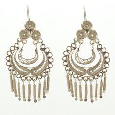 JJ Caprices - Silver Filigree Earrings