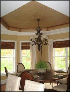 dining room tray ceiling - italian venetian plaster - bella faux