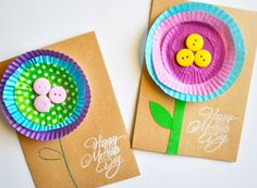 Apr 2016 - Whether your crafting something for your mum or enlisting hubby to get creative with the kids, we've scouted the very best DIY gifts to make this Mother's Day extra special. Here are 16 easy Mother's Day crafts for a great homemade gift. Mothers Day Card Kids, Diy Mothers Day Gifts, Diy For Kids, Crafts For Kids, Easy Mother's Day Crafts, Mother's Day Activities, Diy Gifts To Make, Diy Buttons, Mother's Day Diy