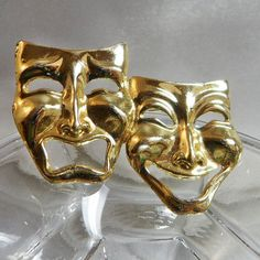 Goldtone Theater masks (20.00)