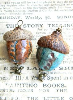 reserved for Lucia, enchanted acorn pendants via Etsy