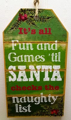 Wooden Christmas sign-