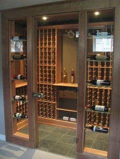18 ideas glass closet doors wine cellar for 2019 Wine Glass Rack, Wine Rack, Tasting Room, Wine Tasting, Wine Cellar Basement, Home Wine Cellars, Wine Cellar Design, Wine Display, Cigar Room