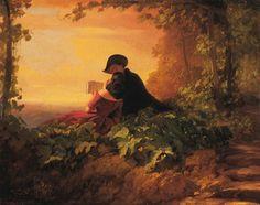 Carl Spitzweg: Die Nachhilfestunde, 1845. Sammlung Würth, Inv. 3829 © Sammlung Würth