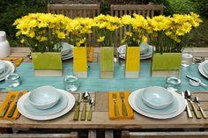 Verde e amarela! Para almoçar ao ar livre.