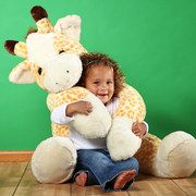 Plushed stuffed animal by Purr-fection. I always wanted a big stuffed animal I could snuggle with, this is so cute. Giant Giraffe, Giraffe Stuffed Animal, Giant Stuffed Animals, Giraffe Nursery, Stuffed Toys, Cuddle Buddy, Bear Doll, Toddler Toys, Spirit Animal