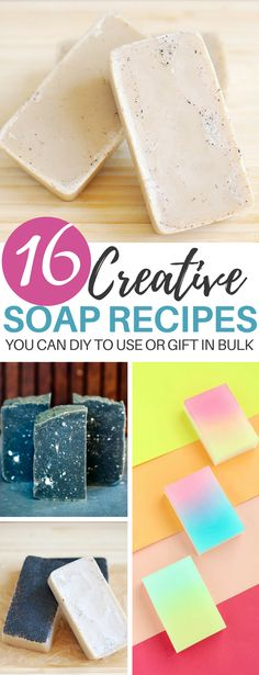 Homemade Soap Recipes: 16 Creative Ideas That You can DIY Easily - - These 16 diy homemade soap ideas will make you smell DIVINE. Homemade beauty recipes are a great way to naturally take care of your body. Homemade Beauty Recipes, Homemade Things, Homemade Products, Diy Beauté, Soap Making Supplies, Vegan Soap, Soap Molds, Home Made Soap, Making Ideas