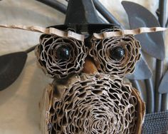 FREE SHIPPING: Halloween Witch Hat Cardboard Owl  Party
