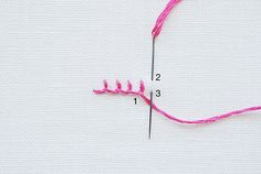 Embroidery Stitches guide - Blanket Stitch   molliemakes.com