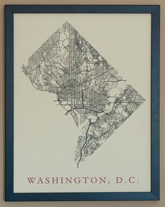 Washington DC City Map Poster by fadeoutdesign on Etsy, $25.00