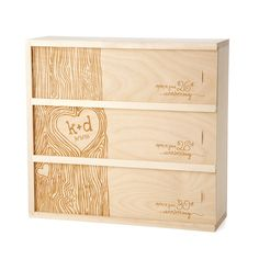 ANNIVERSARY WINE BOX   Personalized Wedding Wine Box   UncommonGoods