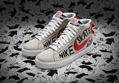 c88eb333f5e4de Sizes still available for the Geoff McFetridge x Nike SB Blazer PRM. http