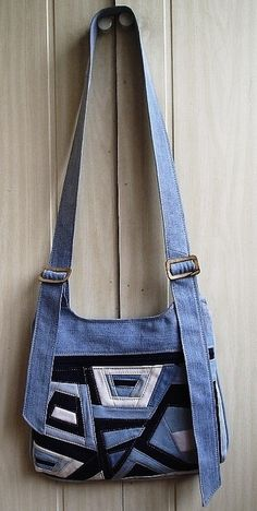 pieced denim, almost crazy quilt style - Russian site with lots and lots of ideas for using denim