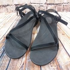 e01e9f5b0f7 Women s Teva Zirra Adjustable Sport Sandals 11 Black Thin Straps Spider  1000035  Teva  SportSandals