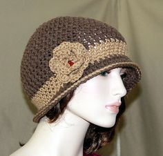 Crochet Cloche Hat Vintage Inspired Flapper by endlesscreation