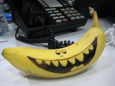 Even I can draw on a banana.