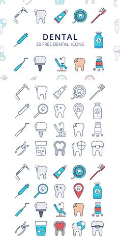 Dental Vector Free Icon Set This is a useful collection – Dental Vector Free Icon SetYou can find icon set and more on our website.