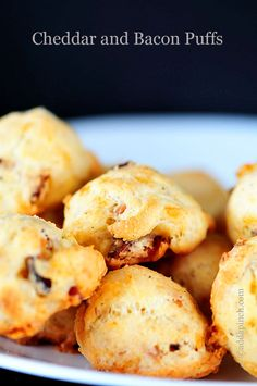 Cheddar and Bacon Puffs Recipe {Giveaway} from addapinch.com
