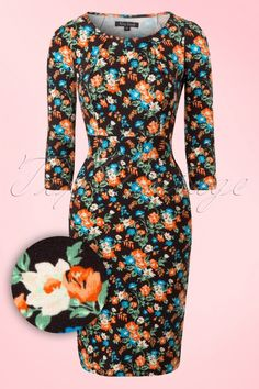 King Louie - 50s Mona Flores Dress in Coffee
